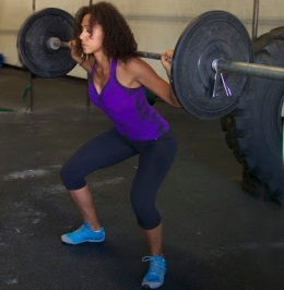 Liz is wearing the Tie Dye Purple Bow Top -ON SALE! by Body Angel Activewear & the Basic Capri by Protokolo.