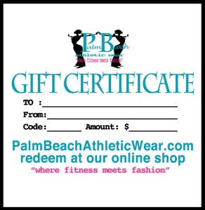 e-Gift Certificates make FAST Fitness Gifts!
