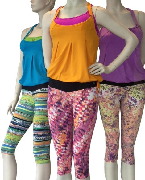 Chill Capri Bottoms paired with Balance Bra & Tweety Top give a POP of Color to Inspire your Workouts!