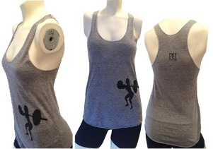 Front Squat Tank in Gray & Black