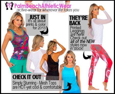 Palm Beach Athletic Wear Goes Print-Crazy!