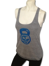 Kettlebell Skull Tank Top in  Ocean Blue