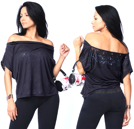 Bluefish Sport Lace Top - Beautiful, no matter HOW you wear it!