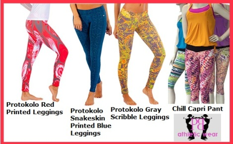 Printed Fitness Pants & Capris