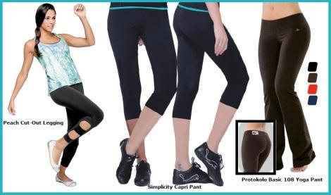 Classic Black Supplex Fitness Bottoms