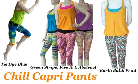 Bluefish Sport - Chill Capri Pants -5 Different Color Choices!