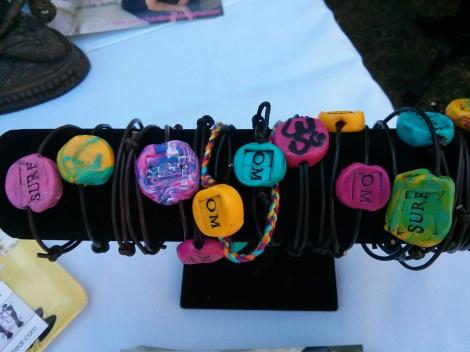 Handmade OM & SURF Anklets & Bracelets -So cute!