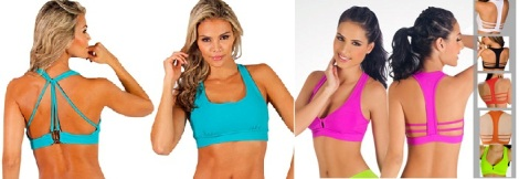 Protokolo Sports Bras - Left, Atlantis & Right, Strapped T-Back