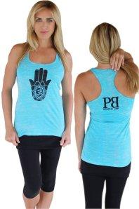 Hamsa Burnout Yoga Tank by Palm Beach Athletic Wear