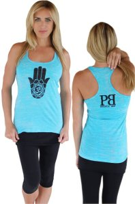 Hamsa Burnout Yoga Tank by Palm Beach Athletic Wear