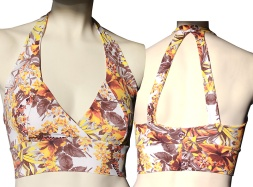 Ambition Halter Sports Bra - 7 additional Prints also available at Palm Beach Athletic Wear