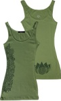 Binka Girl Army Green Lotus Tank Top