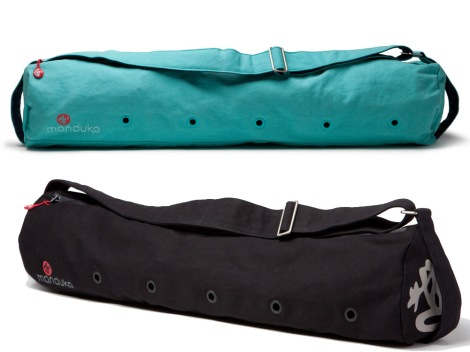 These classic Manduka Yoga Mat Bags can carry 2 Yoga Mats + Much More Easily!