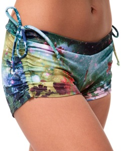 Galaxy Side String Yoga Shorts are Water Ready!