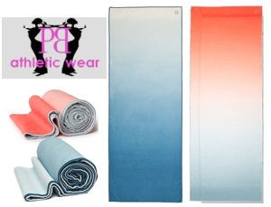 colorful yoga mat towels
