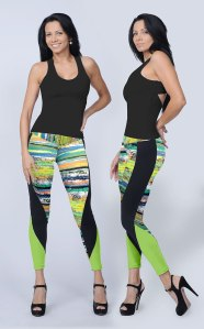 Bluefish Sport Sexy Legging in Wood Print