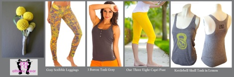 Yellow & Gray -Perfect for Summer!