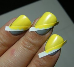 Yellow & Grey DIY Manicure