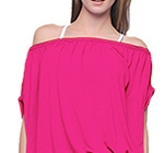 Fuchsia Desire Zipper Top by Bluefish Sport
